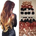 20inch veliku 5a Brazilski djevičansko ljudske kose val ombre dlačica produžni / tkati (1b/33 # / # 27)