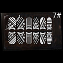 12PCS White Lace Transparent s drahokamu Glitter svatební nehty Samolepky Bowknot Striped