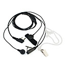 2 Pin Dual Ptt Covert Akustické Tube Sluchátko Mikrofon pro Kenwood Radio Quansheng TYT Baofeng Uv5R 888S Black