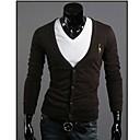 Pánská móda Classic svetr s dlouhým rukávem Cardigan volný čas