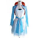 Inspirirana RWBY Weiss Schnee Anime Cosplay Kostimi Cosplay Suits / Dresses Kolaž Bijela / Plava Kaput / Haljina