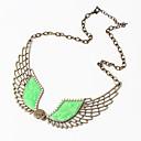 Btime Dámská Vintage Prohlášení Pearl Wing náhrdelník