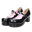 Crna lakirana koža Classic Lolita 4,5 cm cipele na visoku petu