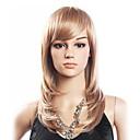 高品質の20%人毛&80%耐熱ファイバー毛のキャップレスミディアムカーリーウィッグ(プラチナブロンド)