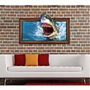 3DThe žralok na stěnu Samolepky na stěnu