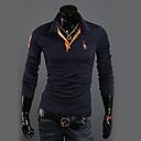 DAVIDANN Casual Cotton Blend Long Sleeve T Shirt-28
