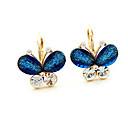 Miss u Dámská Vintage Double Color Butterfly Crystal Náušnice