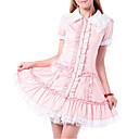 ワンピース/ドレス 甘ロリータ プリンセス コスプレ ロリータドレス ピンク レース 半袖 ロリータ ドレス のために 女性 コットン