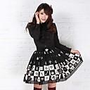 Alice šah lijepa princeza koljeno duljine crni poliester gothic lolita suknju