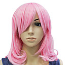 Capless Pink Bølget Short Party Hair Wig