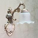 ウォールライト、1灯、クラシック·メタル、ガラス絵付け