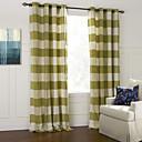 Moderna Bedroom Plaid/Check Zelen Dvije zavjese Panel zavjese Zavjese