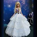 Princeza Haljine Za Barbie lutka Bijela Haljine Za Djevojka je Doll igračkama