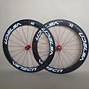 udelsa - WH-R60-C 60ミリメートル700Cフルカーボンファイバークリンチャーロードバイク/自転車のホイールセット