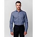 černá & modrá 100% bavlna kostkovaná košile