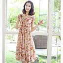 seasoncity ženska tanke šifon cvjetni print haljinu