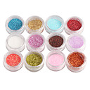 12-Color Glitter Power Nail Art Dekorace