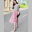Michaela Korejski šifon haljina plaža (tamno plavi, roza) -1178