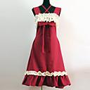 ワンピース/ドレス クラシック/伝統的なロリータ プリンセス コスプレ ロリータドレス レッド パッチワーク ノースリーブ ミドル丈 ドレス のために コットン