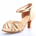 Non Přizpůsobitelné - Dámské - Taneční boty - Latina / Taneční sál - Satén - Masivní podpatek - Červená