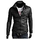 INMUR Crna Multi-Zipper Button Zatvaranje Stand Collar jednobojnu jakna
