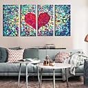 Reprodukce na plátně umění Abstraktní Láska Set 4