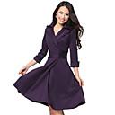 Královna módy Dámská Simple Solid Colro Pas šifon košile (fialová)