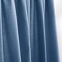 jeden panel tyč kapsa moderní minimalistický tmavě modrý pevný zatemňovací závěsy závěsy