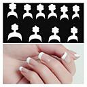 10x10pcs mixs veličina bijeli osmijeh nail art francuski savjeta
