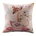 Država Lovely Deer Pamuk / Posteljina Dekorativni jastuk Cover