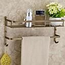 浴室棚 アンティークブラス ウォールマウント 40*15*17cm(15.7*6*6.7inch) 真鍮 アンティーク