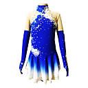 Klizačke haljine Žene / Za djevojčice Dugi rukav Skating Haljine i suknje Umjetničko klizanje prerušiti Prozračnost / Rugalmas Spandex