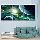 Rastegnut Canvas Art Tajanstveni Sky Set od 3