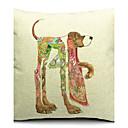 怠惰な犬のコットン/リネン装飾枕カバー