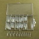 10x10pcs mixs veličina transparentno pola nail art francuski savjeta