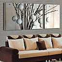 LED umjetnost Cvjetni / Botanički Tradicionalno Klasika,Tri plohe Horizontalno Ispis Art Zid dekor For Početna Dekoracija
