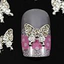 指先ネイルアートの装飾のための10個入りの美しさの蝶ラインストーンのジュエリーアクセサリー