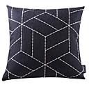 crni geometrijski pamuka / lana ukrasne jastuk pokriti