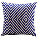 Vizualni plavi dijamant pamuk / Linen ukrasne jastuk pokriti