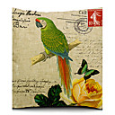 A Lonely Parrot Cotton/Linen Decorative Pillow Cover