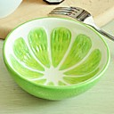 Lijep plod dizajn keramičke zdjele zeleni limun, 13x13x4.2cm