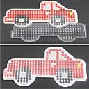 1ks šablony jasné Perler korálky děrované stěny červené auto vzor pro 5mm Hama korálky pojistka korálky