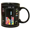 retro 80s video igre šalice Tetris topline boje promjena šalica keramička (3.2x.2x3.8 inča)