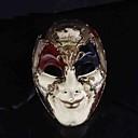 Maska cosplay Festival/Svátek Halloweenské kostýmy Červená / Bílá Tisk Maska Halloween Pánské PVC