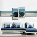 Reprodukce na plátně umění pobřeží člun sada 4