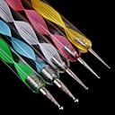 5 ks šroub různé velikosti nehtu Výtvarné a kreativní potřeby 2-pásmový nail art tečkování pera / Malování pero