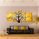 rastegnuti platnu umjetnosti sretan stablo dekorativna set od 5