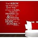jiubai® citat Zid naljepnica naljepnica, 58 * 90cm