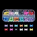 60pcs 12 barev populární pryskyřice nail art dekorace