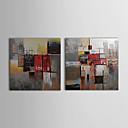 iarts®oil pinturas conjunto de 2 modernos bloques de color abstracto lienzo pintado a mano listas para colgar